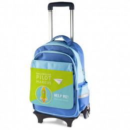 Chariot pour enfant avec sac à dos amovible bleu (vendu à l'unité)