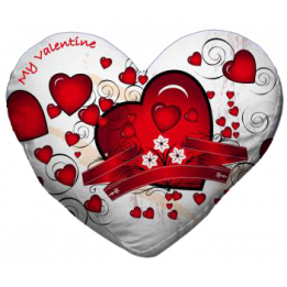 Housse de coussin coeur blanche 42 x 38 cm toucher très doux (vendu à l'unité)