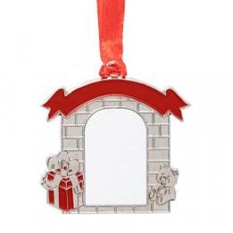 Décoration de Noël à suspendre en métal forme Porche 4,5 x 4,7 cm (vendu à l'unité)