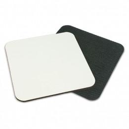 Dessous de verre Sublistar® antidérapant blanc brillant carré 9,5 x 9,5 cm (vendu à l'unité)
