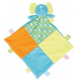 Doudou pour enfant éléphant multicolore 100% polyester Mumbles MM701 (vendu à l'unité)