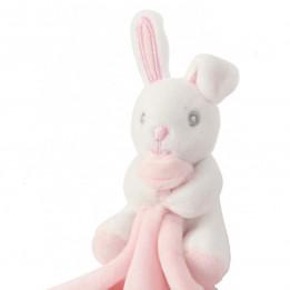 Doudou pour enfant lapin rose 100% polyester Mumbles MM700 (vendu à l'unité)