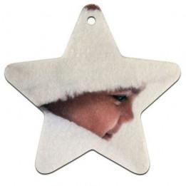 Décoration de Noël à suspendre en plastique forme Etoile 7 x 7 cm (vendu à l'unité)