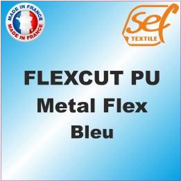 PU Métalflex Bleu Métal - Vinyle thermocollant 60 microns