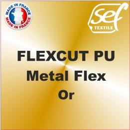 PU Métalflex Or Métal - Vinyle thermocollant 60 microns