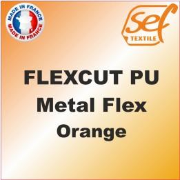 PU Métalflex Orange Métal - Vinyle thermocollant 60 microns