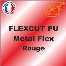 PU Métalflex Rouge Métal - Vinyle thermocollant 60 microns