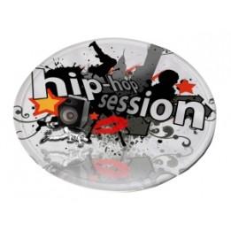 Frisbee blanc avec pochette de rangement sublimable (vendu à l'unité)