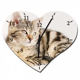 Horloge forme coeur en fibres dures (MDF) 24,5 x 20 cm (vendu à 'lunité)
