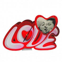 Horloge de bureau en MDF forme coeur Love 39 x 24,5 cm épaisseur 3 mm (vendu à l'unité)