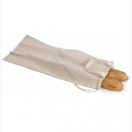 Sac à pain coton bio KI0254 fermeture coulissante avec cordelette 70 x 29 cm (vendu à l'unité)