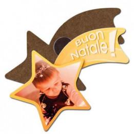 Magnet en MDF forme étoile filante 7 x 4,5 cm (vendu à l'unité)