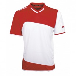 Maillot sport ELDERA rouge/blanc Gamme Mondial XXXS à XXXL
