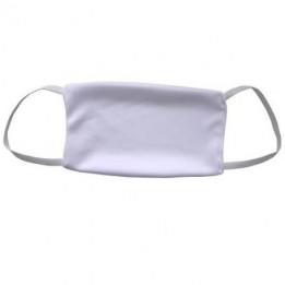 Masque respiratoire blanc 100% microfibres avec élastiques 16 x 10 cm (vendu à l'unité)