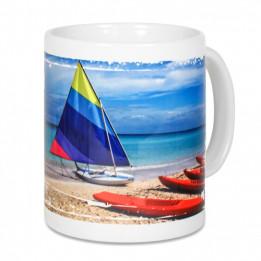 Mug blanc Lena Duraglaze® H 9,6 cm Ø 8 cm avec revêtement ultra blanc brillant