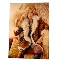 Panneau photo en bois de bouleau surface naturelle 285 x 400 x 13 mm (vendu à l'unité)