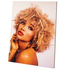Panneau photo en bois de bouleau surface lignée blanche naturelle 200 x 285 x 13 mm (vendu à l'unité)