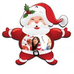 Décoration de Noël à suspendre en plastique forme Père Noël 12 x 11 cm (vendu à l'unité)