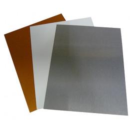 Plaque en aluminium 30,5 x 61 cm épaisseur 0,7 mm - 2 coloris