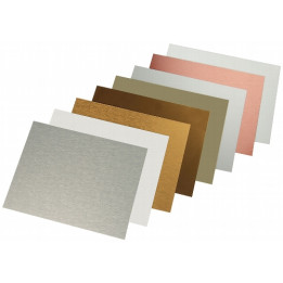 Plaque en aluminium 20 x 30,5 cm épaisseur 0,5 mm - 7 coloris