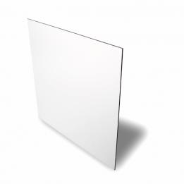 Plaque en aluminium blanc brillant 15 x 20 cm épaisseur 0,5 mm (vendu à l'unité)