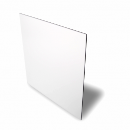 Plaque en aluminium blanc brillant 20 x 30,5 cm épaisseur 0,5 mm (vendu à l'unité)