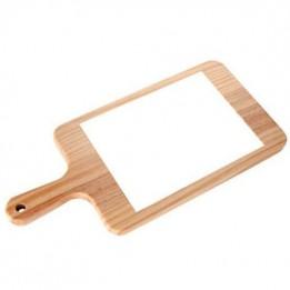 Plateau à fromage en bois naturel avec carrelage rectangulaire 15 x 20 cm (vendu à l'unité)