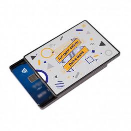 Porte-carte bancaire avec protection RFID pour 2 cartes maximum