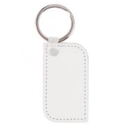Porte-clé cuir forme rectangulaire bords arrondis 3 x 5,5 cm marquage 1 face (vendu à l'unité)