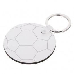Porte-clé en MDF ballon de football Ø 5,5 cm (vendu à l'unité)