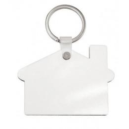 Porte-clé en MDF blanc brillant maison (vendu à l'unité)
