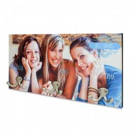 Porte-manteau mural Unisub UNI-4576 dimension 40,6 x 20,3 cm épaisseur 16 mm (vendu à l'unité)