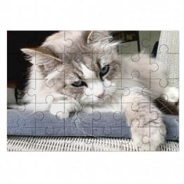 Puzzle blanc brillant Unisub en bois format 17 x 25 cm épaisseur 3 mm - 30 pièces (vendu à l'unité)