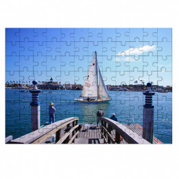 Puzzle blanc brillant en bois Unisub 25 x 36 cm épaisseur 3 mm - 96 pièces (vendu à l'unité)