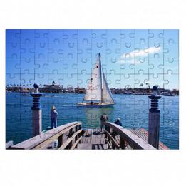 Puzzle blanc brillant en bois Unisub 25 x 36 cm épaisseur 3 mm - 150 pièces (vendu à l'unité)