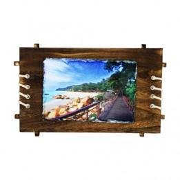 Bloc ardoise brillant rectangle 18 x 26 cm cadre bois ép. 8 mm (vendu à l'unité)