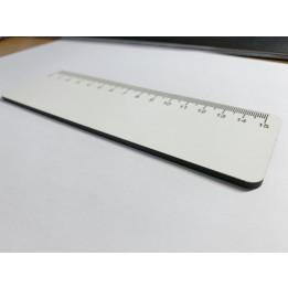 Règle de bureau 15 cm en MDF blanc brillant 16 x 5 cm (vendu à l'unité)