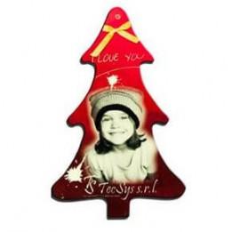 Décoration de Noël à suspendre en plastique forme Sapin de Noël 5,5 x 9 cm (vendu à l'unité)