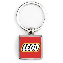 """Lot de 100 porte-clés métalliques """"SM-10D"""" carré 2 faces"""