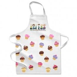 Tablier de cuisine blanc enfant 44 x 62 cm (6 - 10 ans) personnalisable en sublimation (vendu à l'unité)