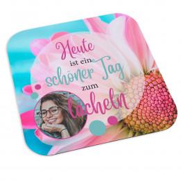 Tapis de souris carré en textile avec effet lotus 25 x 25 cm