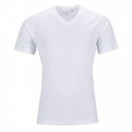 Tee-shirt sport blanc homme col V 150 gr/m² simple jersey S à XXXL 100% polyester (vendu à l'unité)