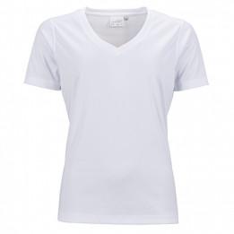 Tee-shirt sport blanc femme col V 150 gr/m² simple jersey XS à XXXL 100% polyester (vendu à l'unité)