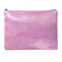 Trousse à maquillage glitter pailletée coloris rose 23 x 16,5 cm (vendu à l'unité)