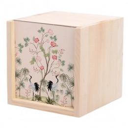 Boite en bois 10 x 10 x 10 cm avec plaque HDF personnalisable (vendu à l'unité)