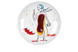 Assiette blanche en céramique - Dimensions Ø 20 cm / Ø 27 cm