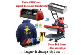 Atelier Textile C30IV avec presse semi automatique TC-5 Smart Bluetooth 38 x 38 cm