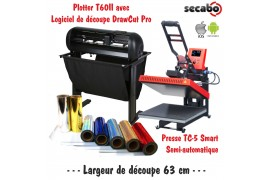 Atelier Textile Pro T60II avec presse semi automatique TC-5 Smart Bluetooth 38 x 38 cm