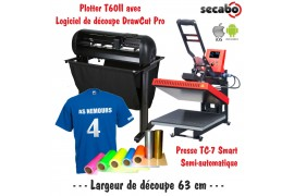 Atelier Textile Pro T60II avec presse semi automatique TC-7 Smart Bluetooth 40 x 50 cm
