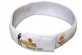 Bandeau serre tête blanc en tissu éponge 62,5 x 5,5 cm
